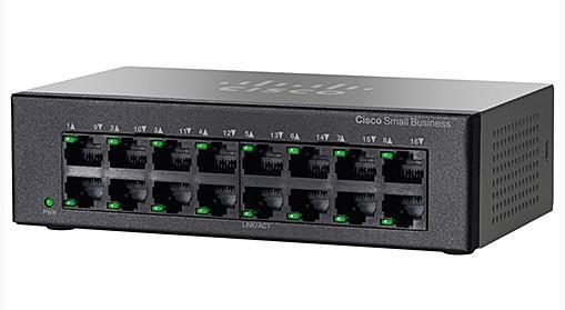 Коммутатор Cisco SB SF110D-16 16-Port 10/100 Desktop Switch (SF110D-16-EU)