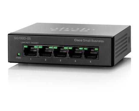 Коммутатор Cisco SB SG110D-05 5-Port Gigabit Desktop Switch (SG110D-05-EU)