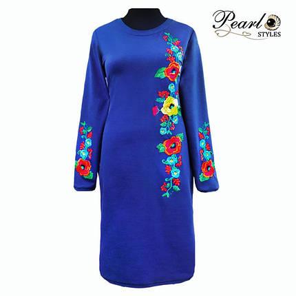 Платье вышитое с длинным рукавом, фото 2