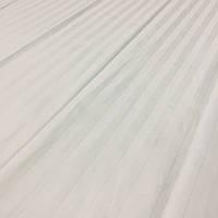 Сатин Люкс страйп белый с полоской 1,1 см