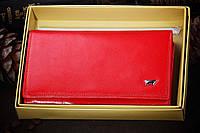 Кошелек красный Braun Buffel, Натуральная кожа, компактный