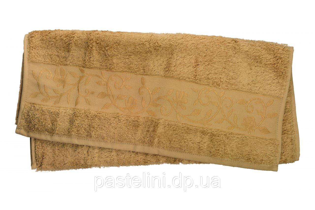 Полотенце махра-бамбук   70x140 bamboo тёмно-бежевое