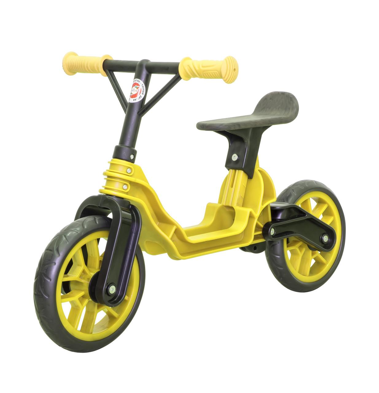 Мотоцикл 2-х колёсный Байк беговел желтый