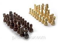 """Шахматные фигуры деревянные в блистере (26х26х5,5 см) (3,5""""), фото 1"""