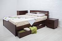 """Деревянная кровать """"Лика Люкс"""" с ящиками"""