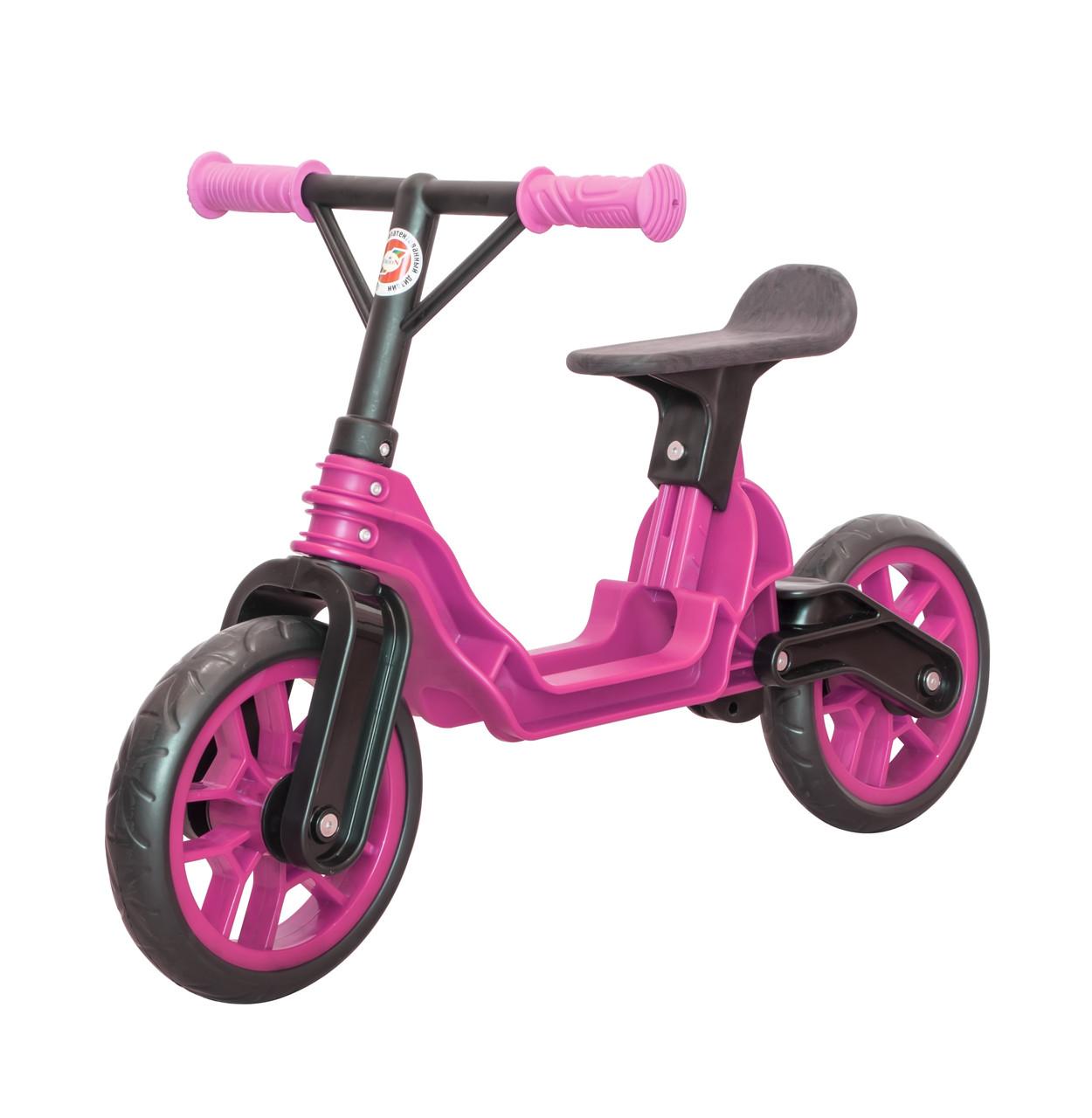 Мотоцикл 2-х колёсный Байк беговел ярко-розовый