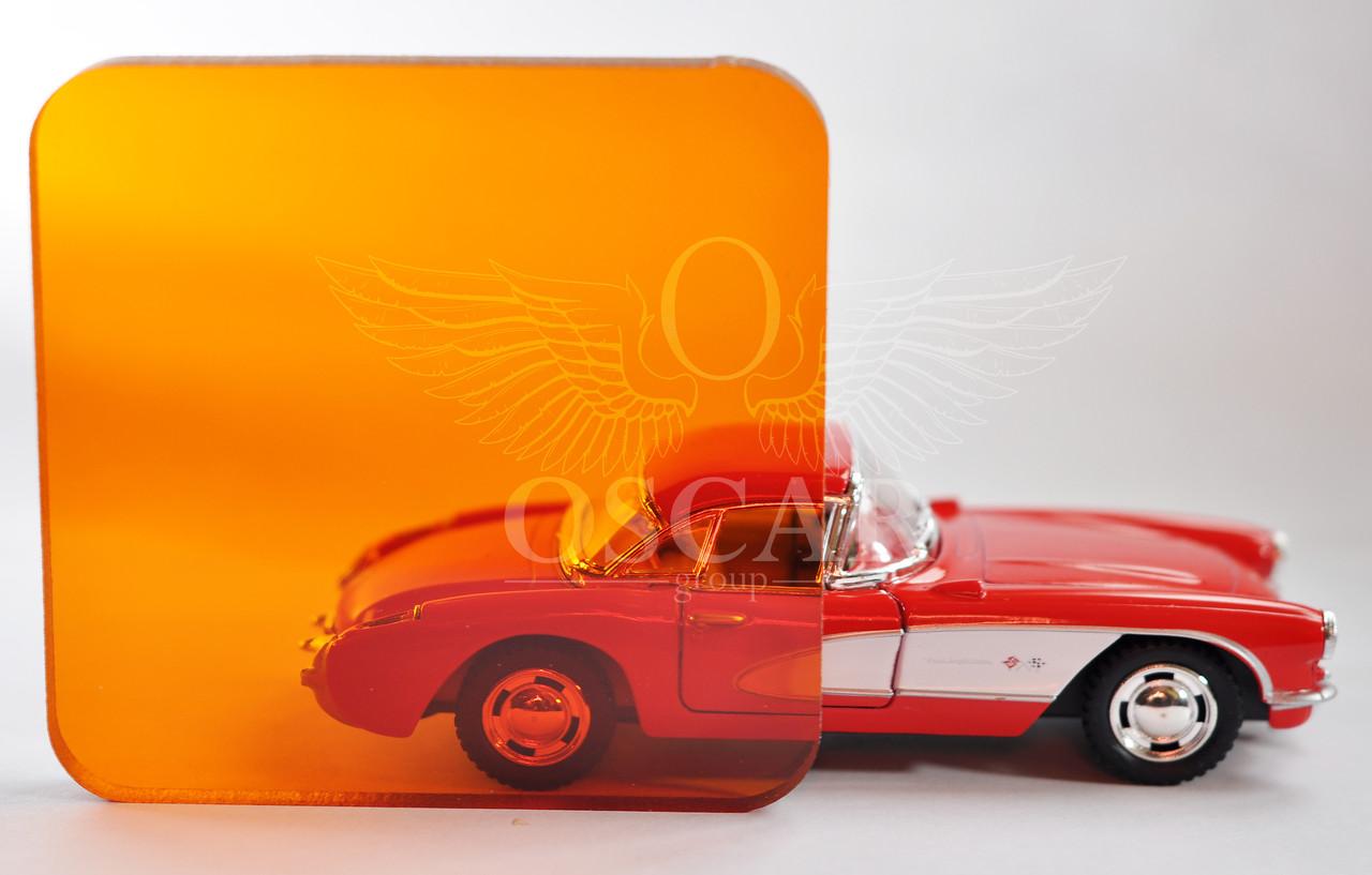 Монолитный поликарбонат ТМ BORREX (Боррекс) 2мм 2,05*3,05м Оранжевый