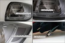 Задняя оптика LED BMW-Style (BLACK EDITION) для KIA Sportage R (AUTO LAMP), фото 2