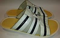 Шлепанцы мужские кожаные р41 ADIDAS 25 белые