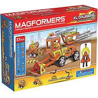 Магнитный конструктор Крейсеры XL, Строители, 37 элементов, серия Техника, Magformers