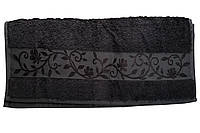 Полотенце махра-бамбук   70x140 bamboo тёмно-серое