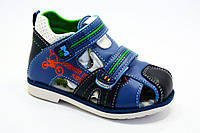 Детская летняя обувь. Кожаные мальчиковые босоножки от фирмы Jong golf A518-2 (8пар, 21-26)