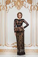 Вечернее платье с гипюром., фото 1