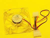 Вентилятор  120*120*25 мм 1350rpm 28dba, підсвітка синя