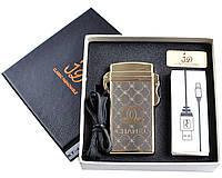 Электроимпульсная USB зажигалка №4760-3, нано-технологии для курильщиков, подарочная упаковка, долговечная