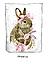 """Панель хлопковая для пледа """"Зайчик с розовым бантиком""""  75*100 см  , фото 3"""