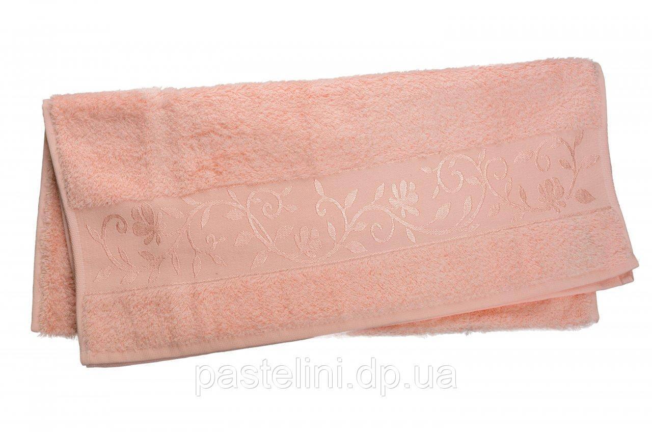 Полотенце махра-бамбук   100x150 bamboo  персиковый
