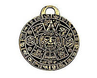 Амулет металл. Календарь Ацтеков - Камень Солнца