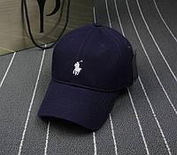 Мужская кепка Поло l Бейсболка Polo Ralph Lauren, темно-синяя