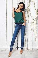 Модные женские джинсы со средней посадкой / Украина / джинс