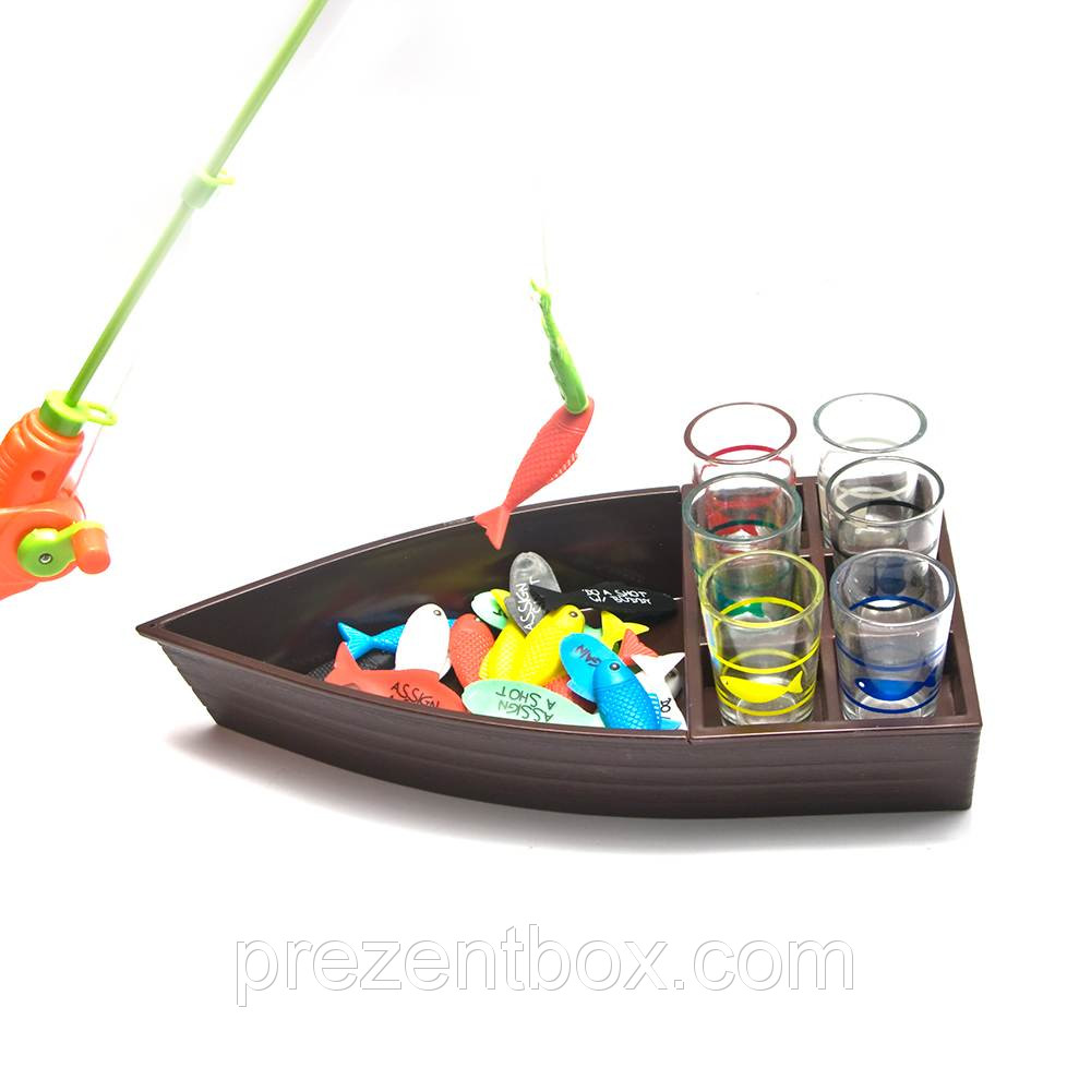 Рыбалка с рюмками  (30,5 х 15,5 х 5 см)