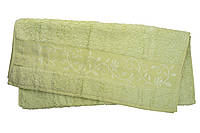 Полотенце махра-бамбук   50x90 bamboo  светло-салатовый