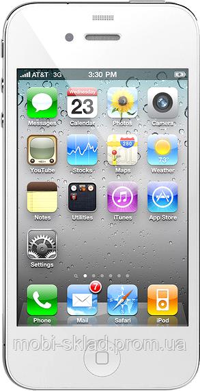"""Точная копия Apple iPhone 4 (4S), емкостной дисплей 3.5"""", Wi-Fi, 4 Гб, 1 SIM. Белый. Заводская сборка!"""