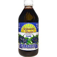 Dynamic Health Laboratories, Чистый концентрированный черничный сок, 16 жидких унций (473 мл)
