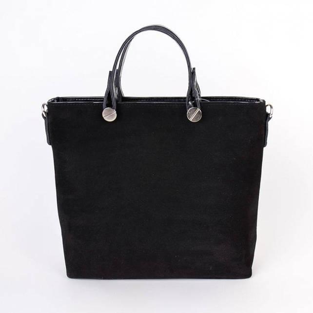 Женская сумка М61-замш/47 black