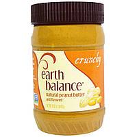 Earth Balance, Натуральное арахисовое масло с льняным семенем, хрустящее, 16 унции (453 г)