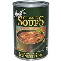 Amys, Органические супы, овощной с низким содержанием жира, 14,1 унции (400 г)