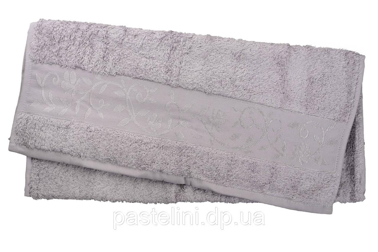 Полотенце махра-бамбук   70x140 bamboo  светло-серый