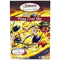 Namaste Foods, Смесь для выпечки пиццы с корочкой, не содержит глютен, 16 унций (454 гр)