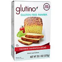 Gluten-Free Pantry, Глутино, смесь для выпечки хлеба Мой любимый бутерброд, 20,1 унции (570 гр)