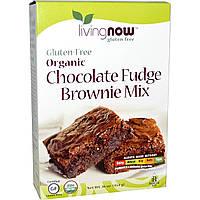 Now Foods, Органическая шоколадная смесь для приготовления брауни, без глютена, 16 унций (454 г)