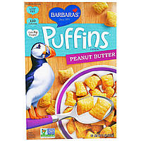 Barbaras Bakery, Puffins Cereal, арахисовое масло, 11 унций (312 г)