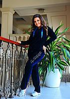 Женский велюровый спортивный костюм Адидас больших размеров