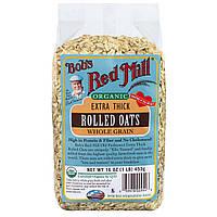 Bobs Red Mill, Органические, экстра толстые овсяные хлопья, 16 унций (453 г)