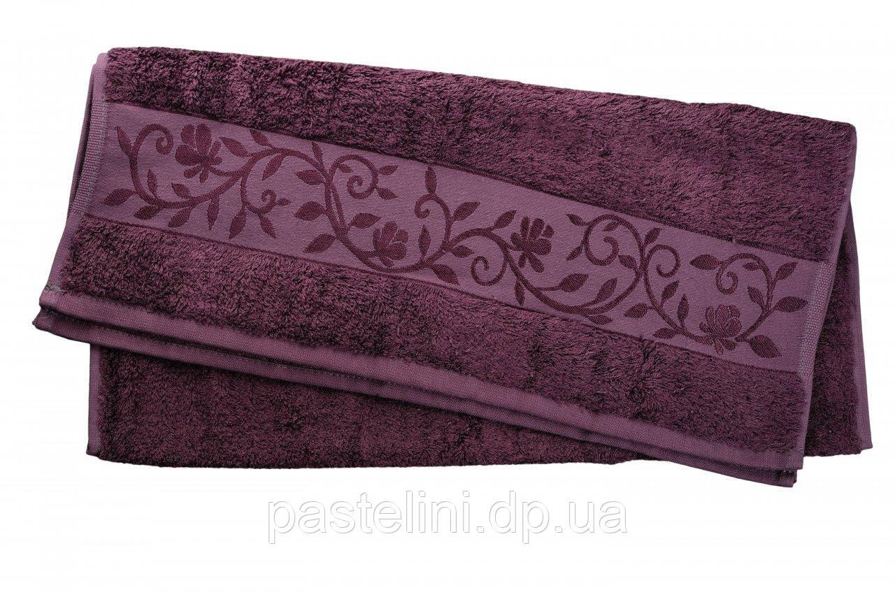 Полотенце махра-бамбук   50x90 bamboo сливовый