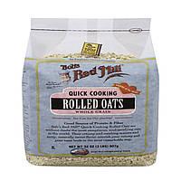 Bobs Red Mill, Овсяные хлопья быстрого приготовления, цельнозерновые, 32 унции (907 г)