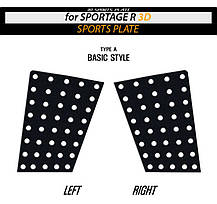 Накладки на задние стекла Sports Plate Circle - KIA Sportage R (DXSOAUTO), фото 3