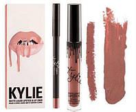 Матовая помада + карандаш Kylie Lipstick & Lip Liner Кайли (набор)
