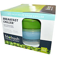 Fit & Fresh, Breakfast Chiller, with Removable Ice Pack & Spoon