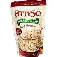 Fifty 50, Овсяная каша с низким гликемическим индексом, 100% цельнозерновая, 454 г (16 oz)