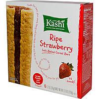 Kashi, Мягкие печеные зерновые батончики, спелая клубника, 6 батончиков по 1,2 унции (35 г) каждый