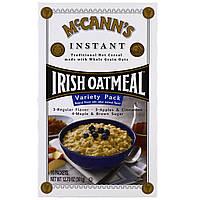 McCanns Irish Oatmeal, Овсяная каша быстрого приготовления, набор, 3 вкуса, 10 пакетиков