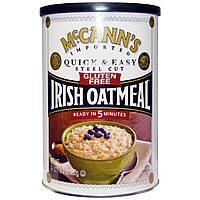 McCanns Irish Oatmeal, Ирландская овсянка, Steel Cut, без глютена, 24 унций (680 г)
