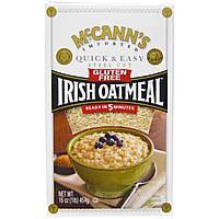 McCanns Irish Oatmeal, Стил Кат, ирландская овсянка, быстро и легко, без глютена, 16 унций (454 г)