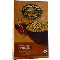 Natures Path, Органические горячая овсянка, орехи и кленовый сироп, 8 пакетиков, 50 г каждый