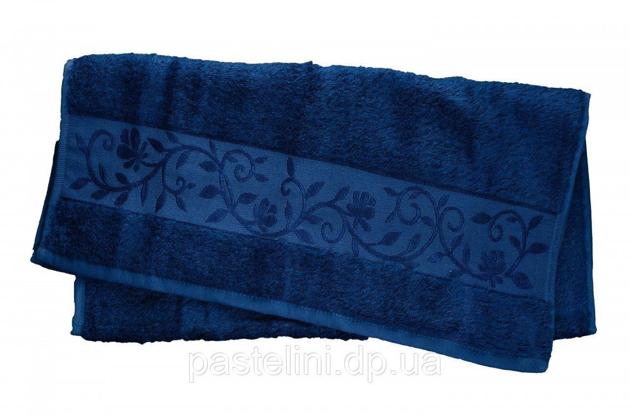 Полотенце махра-бамбук   50x90 bamboo тёмно-синий
